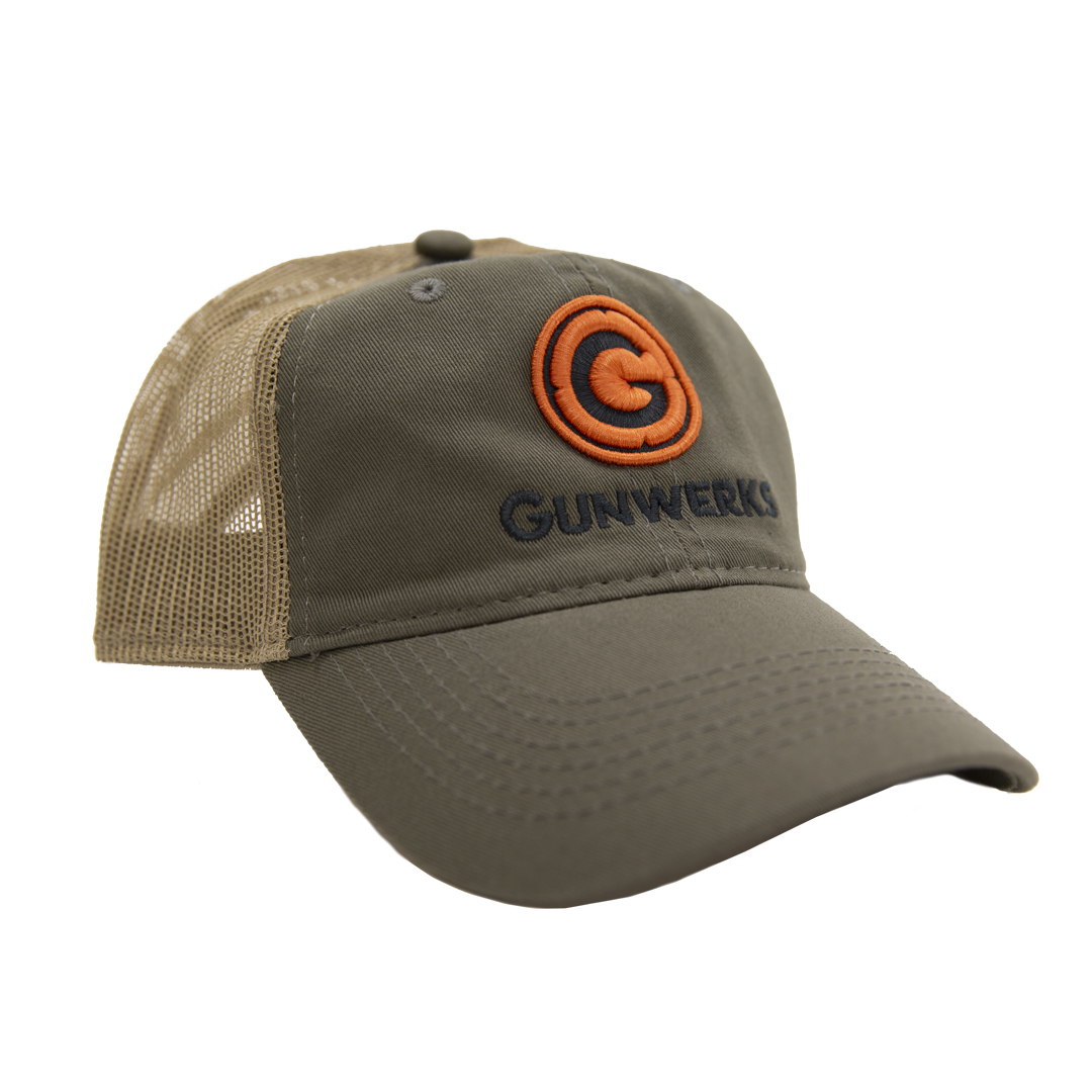 Gunwerks Unstructured Platinum Hat - Olive / Tan with Embroidered Patch